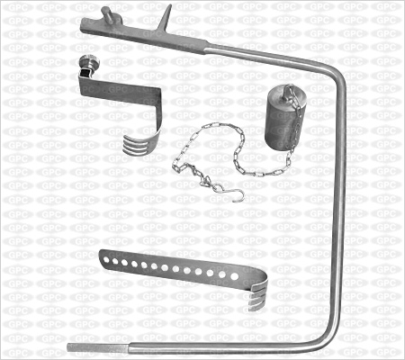 Charnley Hip Retractor with weight & Chain | Charnley Hip