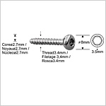 Locking Bolts 3.4mm